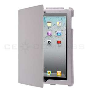 iPad 2 Magnetic Smart Cover Leather Case Stand White