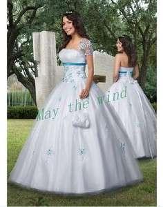 Applique A line bride wedding dress prom dress Princess Bridal Gown