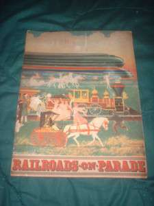 1939 NY WORLDS FAIR RAILROADS ON PARADE PAGEANT PROGRAM