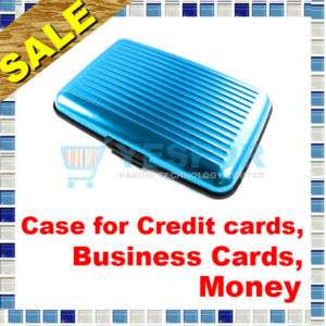 Aluminum Business ID Credit Card Holder Case Wallet B