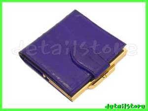 EEL SKIN SMALL FRENCH COIN WALLET MINI PURSE BAG PURPLE