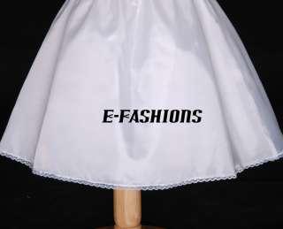 FREESHIPPING WEDDING FLOWER GIRL DRESS PETTICOAT SLIP UNDERSKIRT