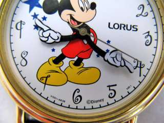 NEW LORUS MICKEY MOUSE GOLD MENS WOMEN WATCH BLUE STARS