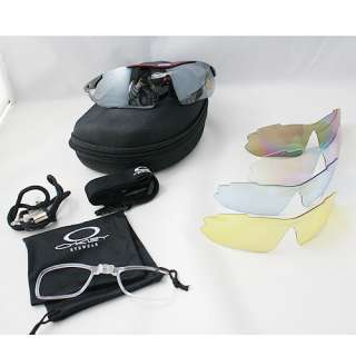 Bicycle Cycling Glasses Sunglasses Goggle 5 lens polarized Red