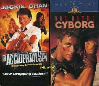 VHS KNOCK OFF,UNIVERSAL SOLDIER,CYBORG,ACCIDENTAL SPY