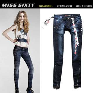 NEW HOT Stunning Rivet Slim MISS SIXTY Lady Cool Jeans