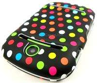 FOR PANTECH PURSUIT 2 II PINK ORANGE GREEN WHITE DOTS HARD COVER CASE