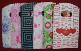 300pcs (6 colour) Mix Very beautiful Plastic Gift Bags