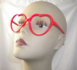 LMFAO SEE THRU RED HEART SUNGLASSES SUN GLASSES