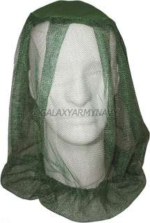 Olive Drab Military Camping Mosquito Head Net