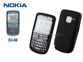 Black Silicon Case Cover Skin For NOKIA C3 C3 00