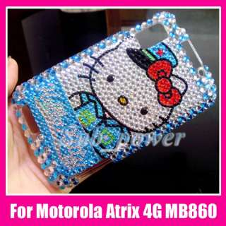 Hello Kitty Bling Case Cover Motorola Atrix 4G MB860 BL