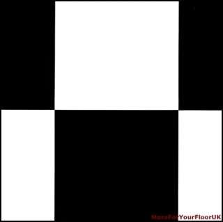 Black & White Chessboard Tile Vinyl Flooring Lino CHEAP