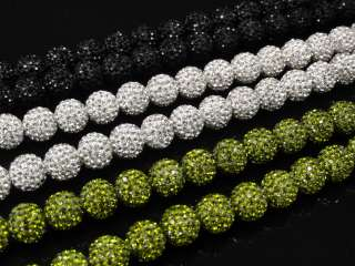 Mens New Black/White/Green Swarovski Crystal 28 In. Chain Necklace