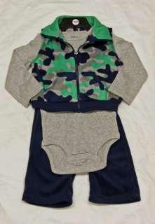 Carters Baby Boy 3pc Combo Vest, Bodysuit, Pants NWT