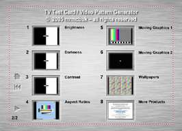 PAL/NTSC   TV Test Card/Video/Projector Setup DVD