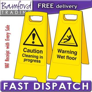 Bamford Trading   A Board Warning Wet Floor/Cleaning In Progress Sign