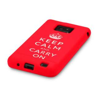 SAMSUNG GALAXY S2 I9100 KEEP CALM & CARRY ON CASE COVER