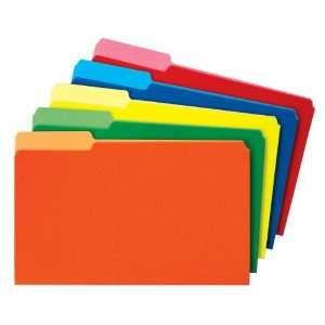 Globe Weis Colored File Folders, 1/3 Cut, Single Ply Tab