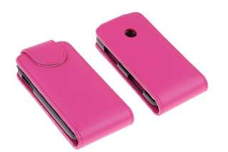 PINK Flip Leather Case/Cover/Pouch LG T300 Cookie Lite