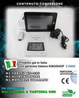 "TABLET PC GOOGLE ANDROID 2.3 GINGERBREAD APAD EPAD 7"" MULTITOUCH"