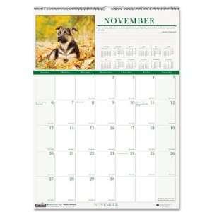 House of Doolittle 3651 Puppies Monthly Wall Calendar, 12