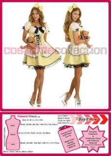 Ladies Goldilocks Fairy Tale Storybook Fancy Dress Halloween Costume