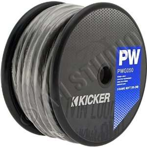 KICKER 09PWG050 Power Wire (1/0 Gauge, 50 Feet, Gray): Car