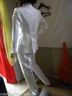 BERNARD ZINS COSTUME PANTALON BLANC MARIAGE 44 val 569E