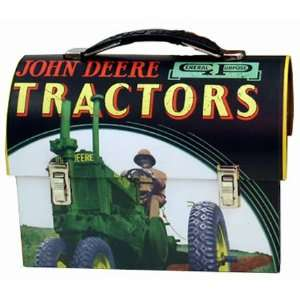 John Deere Farm Tractor Dome Tin  Kitchen & Dining