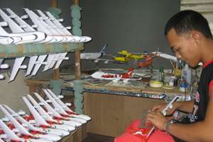 Wood Aircraft Models, Desktop Model items in Wooden Airplane Models