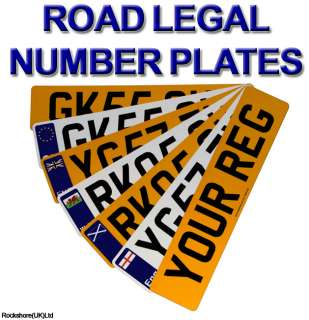 ROAD LEGAL CAR NUMBER PLATE   REPLACEMENT FRONT REAR REGISTRATION