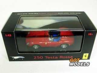 FERRARI 250 TESTAROSSA  1/43 SCALE MODEL BY HOT WHEELS ELITE IN RED