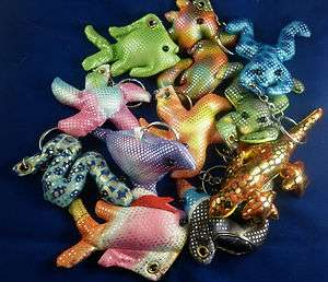 filled Keyrings Beanie Toys Fish Dolphin Snake Frog Starfish!