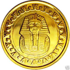 MONETA ORO FARAONE TUTANKHAMON EGITTO KING TUT GOLD