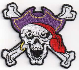 PATCH TOPPA RICAMO PIRATA TESCHIO PIRATES SKULL