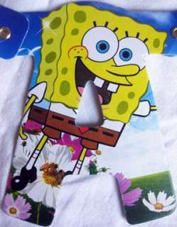 SPONGEBOB SQUAREPANTS BIRTHDAY PARTY LETTER BANNER