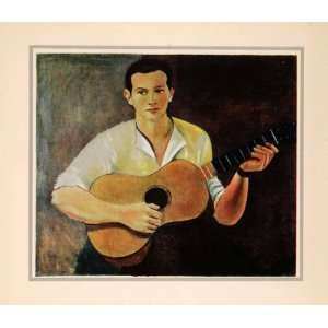 1941 Photolithograph Andre Derain French Modern Art Guitar