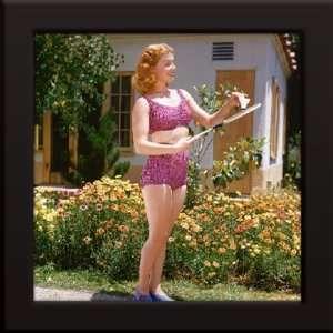 Ann Sheridan Custom Framed 12x12 Color Photo (Pink Bikini