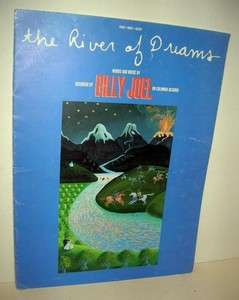 River of Dreams Sheet Music Billy Joel Pretty Cover Art 1993