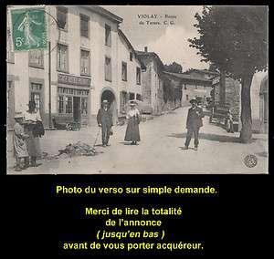 (Loire), Route de Tarare, animée, Café Hôtel Perrier, Vers 1910