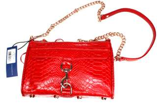 NWT Rebecca Minkoff Classic MINI MAC Clutch in Red Snake