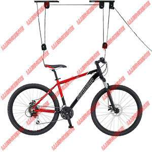 Elevador de bicicletas para garaje + 2 cinchos para golgar piraguas