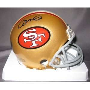 Joe Montana San Francisco 49ers NFL Hand Signed Mini Football Helmet