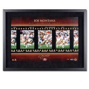 Joe Montana San Francisco 49ers Framed Autographed