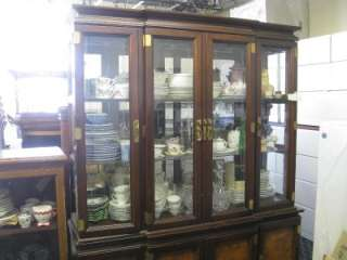 Room China Cabinet Breakfron Wood Glass W / Light Display Case