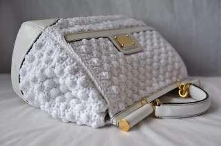 CROCHET+SNAKESKIN*MISS SICILY*Top Handle Bag Purse Handbag