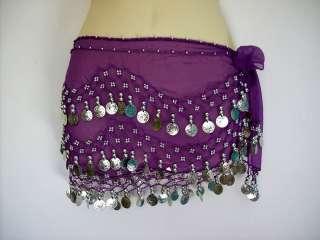 Belly Dancing Bellydance Coin Belt Hip Scarf Skirt Wrap