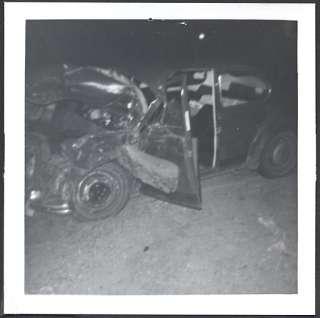 Vintage Car Wreck Photo 1966 Volkswagen VW Beetle 711306
