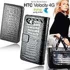 premium black snake wallet leather case cover for telst location
